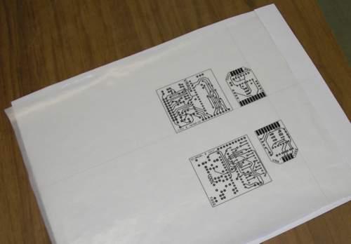 Напечатанный рисунок платы