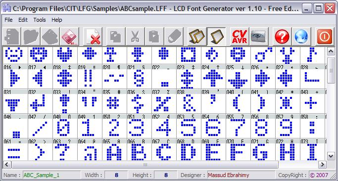 LFG - Lcd Font Generator