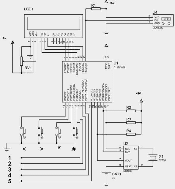 Схема таймера